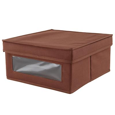 I Think I Canvas Sweater Box (Brown)