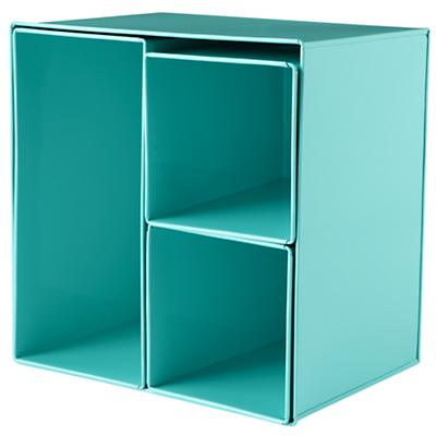 I Could've Bin an Aqua Wall Box (Set of 4)