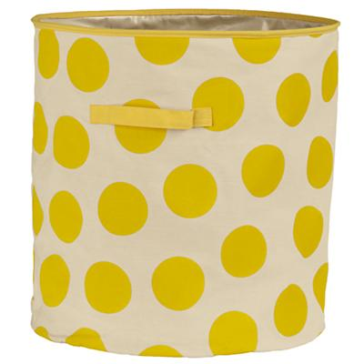 Dotted Floor Bin (Yellow)