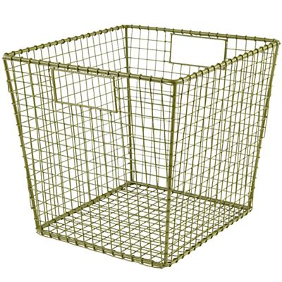 Down to the Wire Cube Bin (Green)