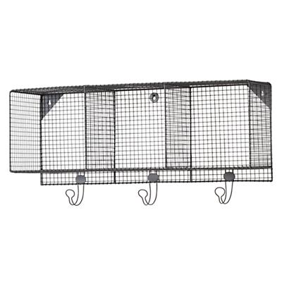 Down to the Wire 3-Cube Wall Shelf (Grey)