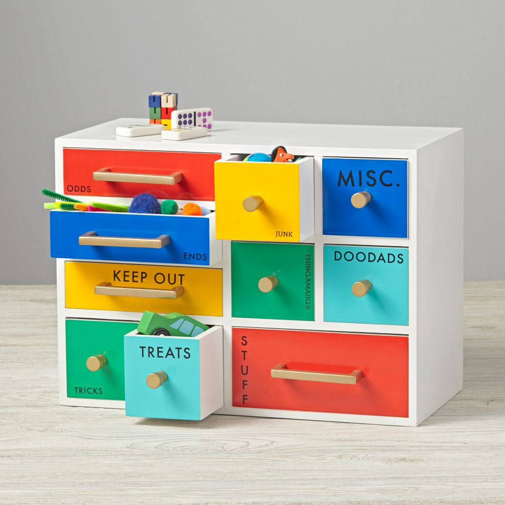 color coded drawers the land of nod - Desk Colors