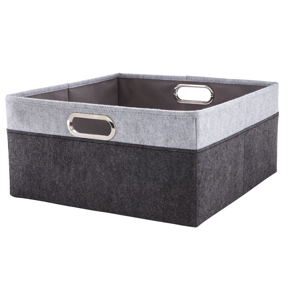 Greyscale Large Changing Table Basket