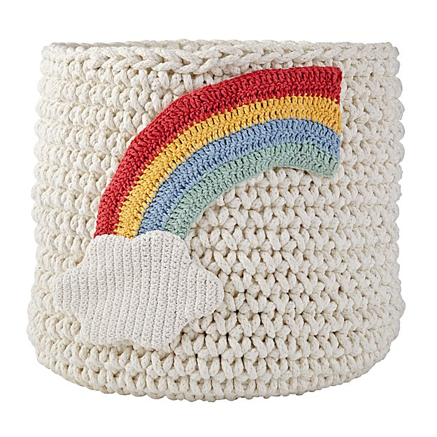 Knit Nursery Bins (Rainbow)