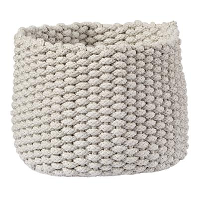Small Kneatly Knit Khaki Rope Bin