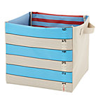 Blue Wide Stripe Tape Measure Storage Bin