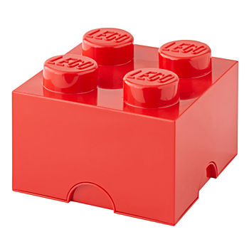 Red Lego Storage Brick 4