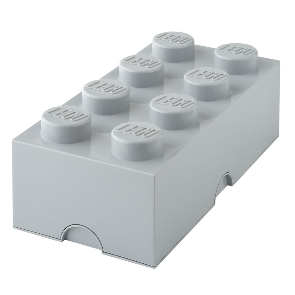 Grey Lego Storage Brick 8