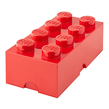 Red Lego Storage Brick 8