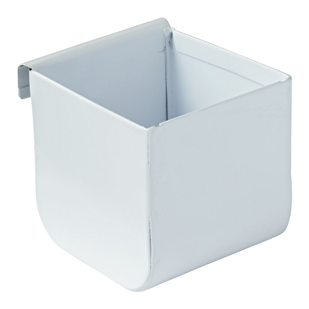 Eric Trine Linear White Square Pot