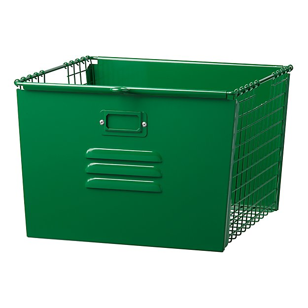 Saved by the Cube Bin Locker Basket (Dk. Green)
