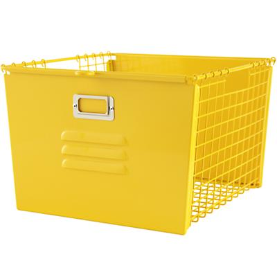 Saved by the Cube Bin Locker Basket (Yellow)