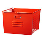 Red-Orange Metal Locker Basket