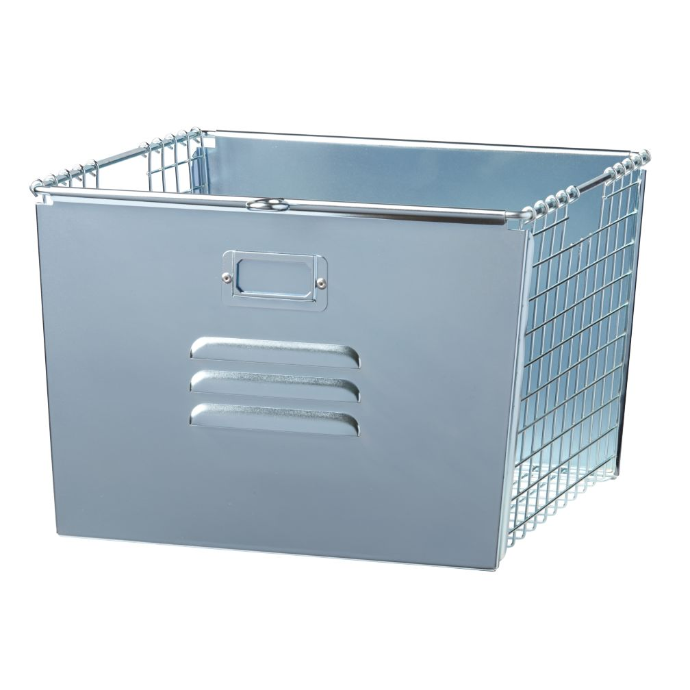 Saved by the Cube Bin Locker Basket (Silver)