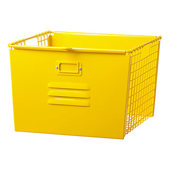 Saved by the Cube Bin Locker Basket (Bright Yellow)