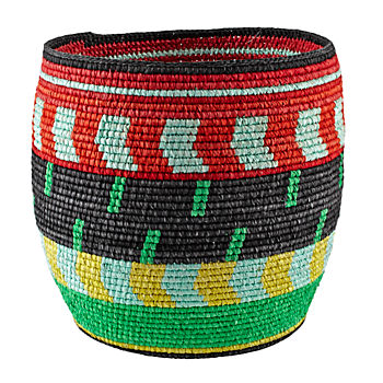 Nile Floor Basket (Green/Black)
