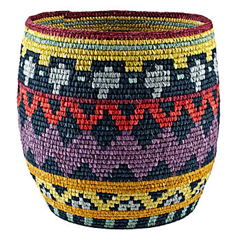 Nile Floor Basket (Purple/Blue)