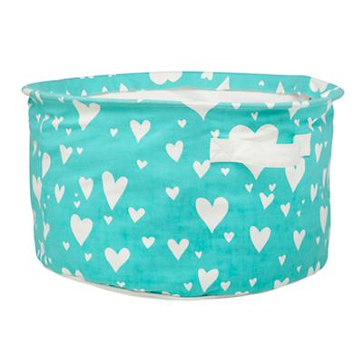 Love Struck Round Floor Bin (Aqua)