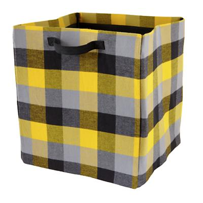 Buffalo Check Floor Bin (Yellow)