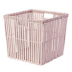 Lt. Pink Reed Between the Cube Basket