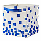 Blue Squares Scatter Print Small Bin