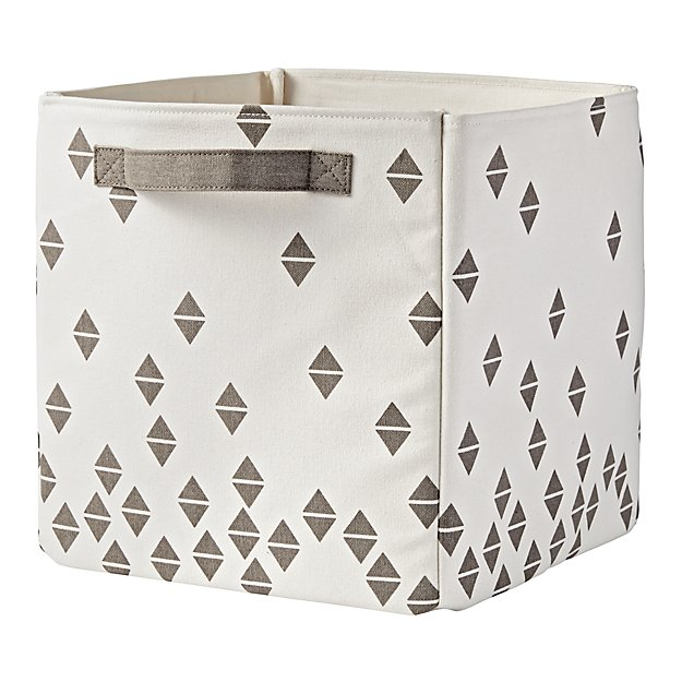Scatter Print Small Bin (Grey Diamonds)