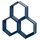 Blue Honeycomb Shelf