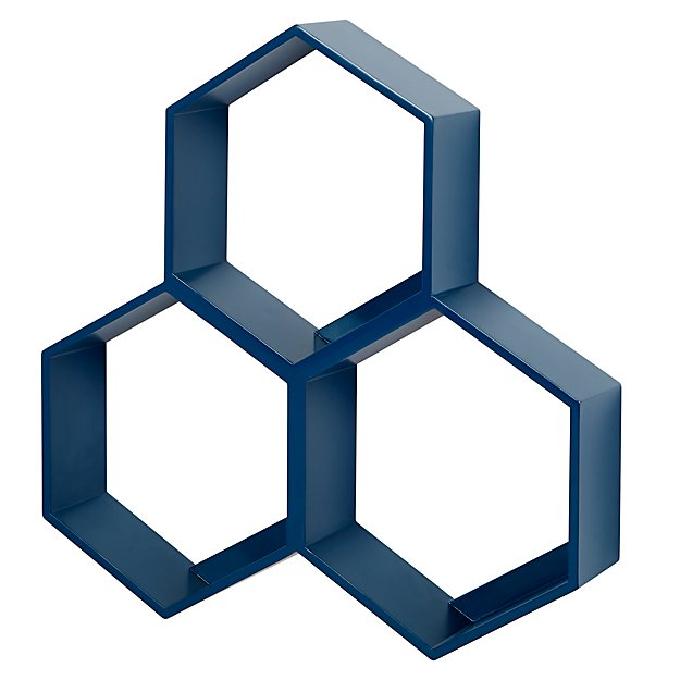 Honeycomb Wall Shelf (Blue)