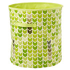 Green Chevron Floor Bin