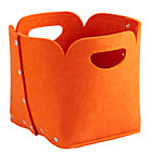 Orange Aw Snap Cube Bin.