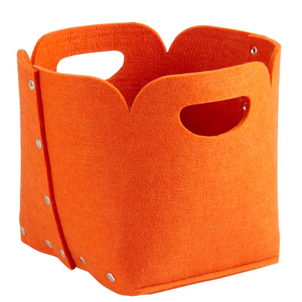 Aw Snap Cube Bin (Orange)