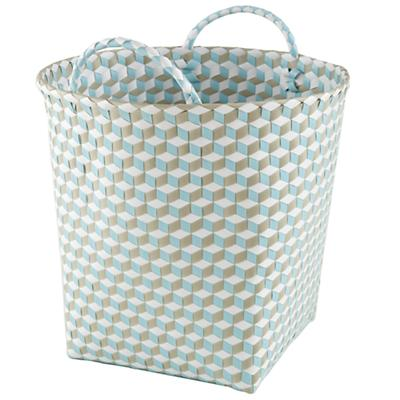 Large Strapped for Storage Bin (Blue)