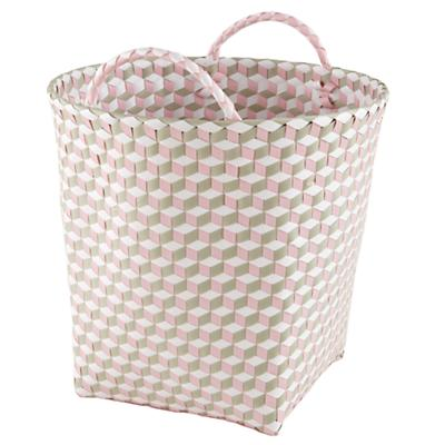 Large Strapped for Storage Bin (Pink)