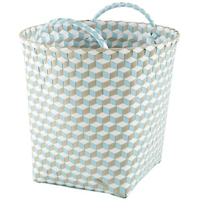 Medium Strapped for Storage Bin (Blue)