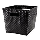 Black Strapping Cube Bin
