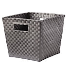 Dark Grey Strapping Cube Bin