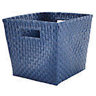 Dark Blue Strapping Cube Bin