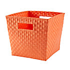 Bright Orange Strapping Cube Bin
