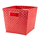 Bright Red Strapping Cube Bin