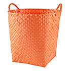 Bright Orange Strapping Floor Bin