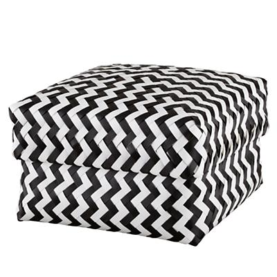 Large Zig Zag Basket (Black)