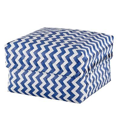 Large Zig Zag Basket (Blue)