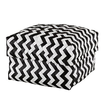 Medium Zig Zag Basket (Black)