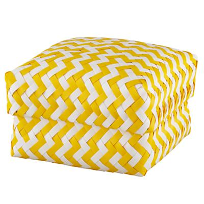 Medium  Zig Zag Basket (Yellow)