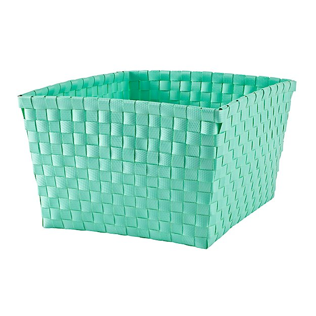 Strapping Shelf Basket (Aqua)