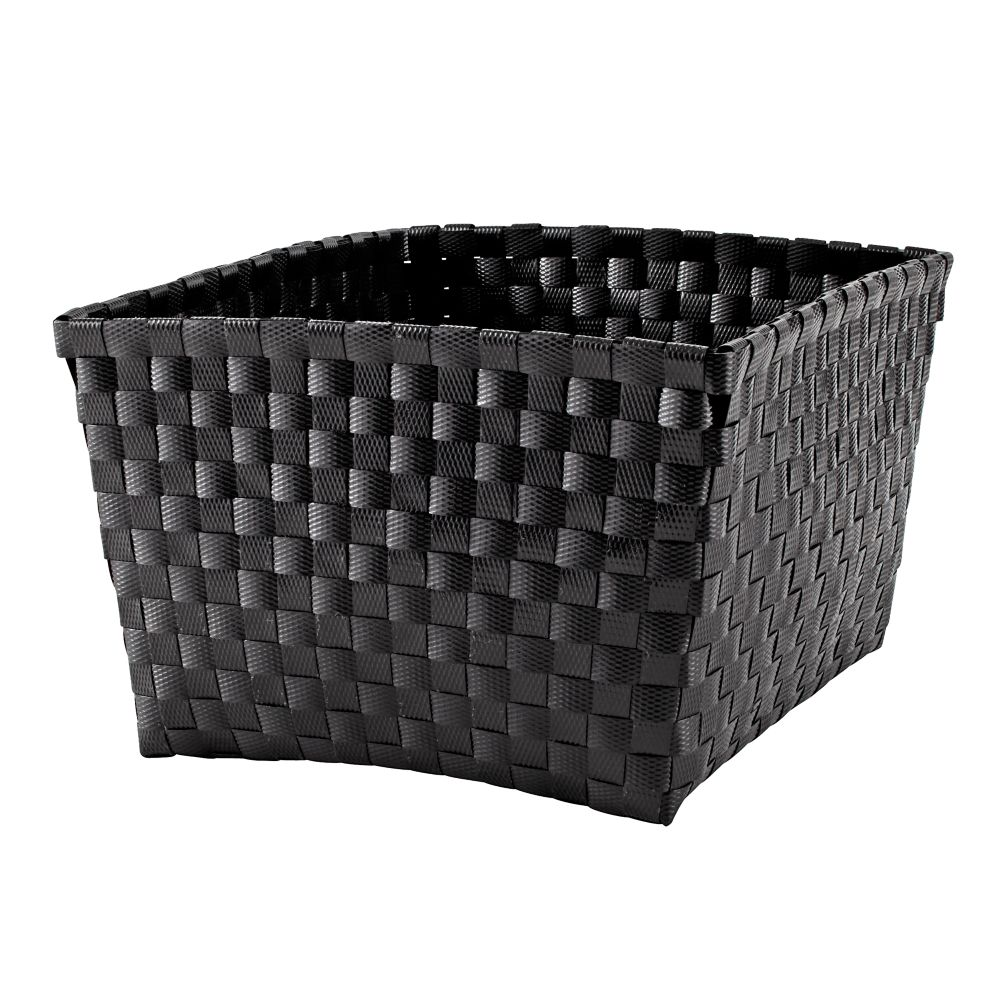 Strapping Shelf Basket (Black)