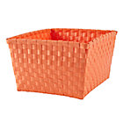 Bright Orange Strapping Shelf Basket