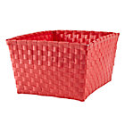 Bright Red Strapping Shelf Basket