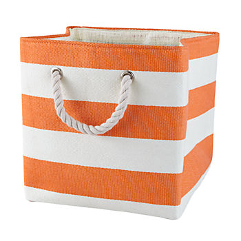 Stripes Around the Cube Bin (Orange)