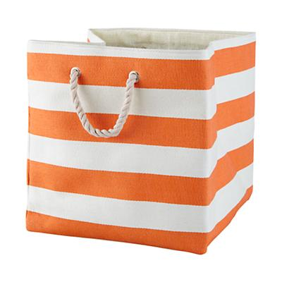 Stripes Around the Floor Bin (Orange)